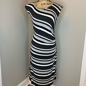Ann Taylor LOFT Striped Sleeveless Dress